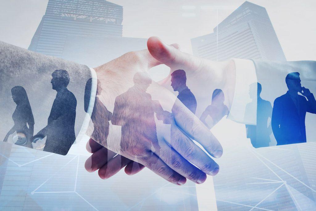 handshake between two mens